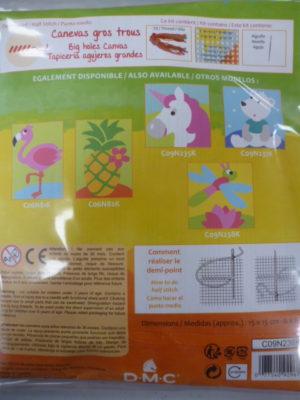 Kit Canevas Gros Trous pour enfants de DMC «La Poule»