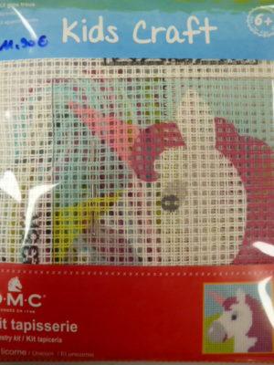 Kit Canevas Gros Trous pour enfants de DMC «La Licorne»