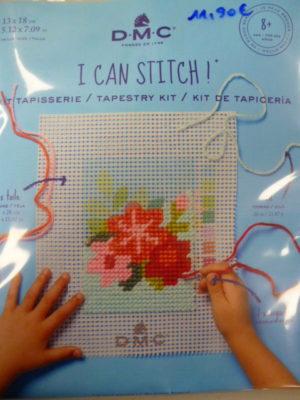Kit Canevas Gros Trous pour enfants de DMC «Fleurs Texanes»