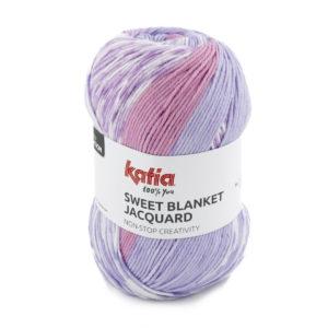 Sweet Blanket Jacquard N°300 de KATIA pelote de 200 g