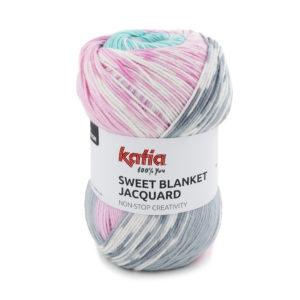 Sweet Blanket Jacquard N°304 de KATIA pelote de 200 g