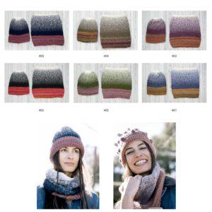 Knit Ensemble N°405 de KATIA Nouveauté 2020/21 1 Bonnet + 1 Snood