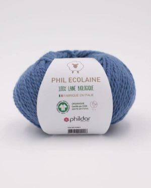PHIL ECOLAINE de Phildar coloris Jean 100% Laine Biologique