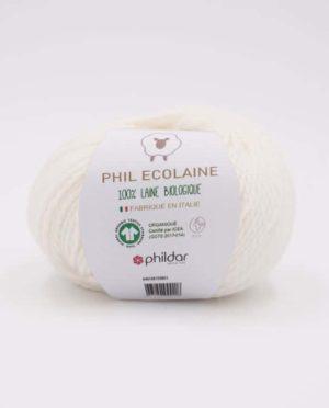 PHIL ECOLAINE de Phildar coloris Ecru 100% Laine Biologique