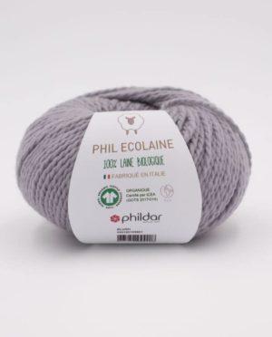 PHIL ECOLAINE de Phildar coloris Acier 100% Laine Biologique