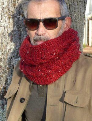 Cascade Tweed de PLASSARD Coloris N°62 Rouge Bordeaux
