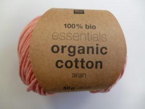 Essentials Organic Cotton Aran N°017 Saumon 100% Coton Bio de RICO DESIGN