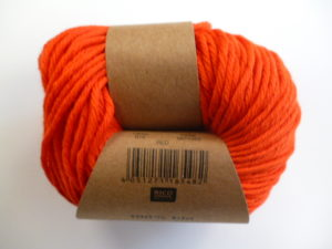 Essentials Organic Cotton Aran N°010 Rouge 100% Coton Bio de RICO DESIGN