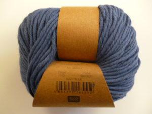 Essentials Organic Cotton Aran N°013 Bleu Marine 100% Coton Bio de RICO DESIGN