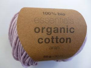 Essentials Organic Cotton Aran N°008 Lilas Clair 100% Coton Bio de RICO DESIGN