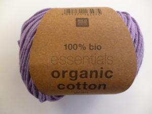 Essentials Organic Cotton Aran N°009 Lilas 100% Coton Bio de RICO DESIGN
