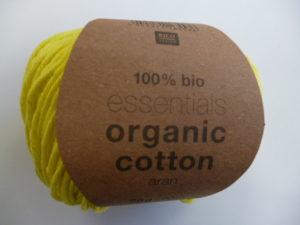 Essentials Organic Cotton Aran N°015 Pistache 100% Coton Bio de RICO DESIGN