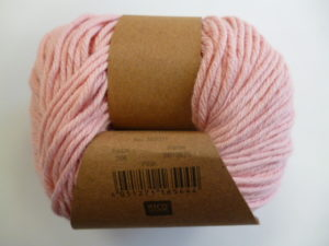 Essentials Organic Cotton Aran N°006 Rose 100% Coton Bio de RICO DESIGN