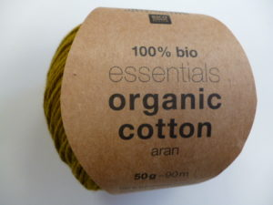 Essentials Organic Cotton Aran N°014 Olive 100% Coton Bio de RICO DESIGN