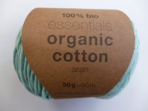 Essentials Organic Cotton Aran N°011 Menthe 100% Coton Bio de RICO DESIGN
