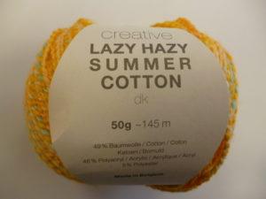 Créative Lazy Hazy Summer Cotton N°010 Jaune de RICO DESIGN
