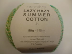 Créative Lazy Hazy Summer Cotton N°013 Vert de RICO DESIGN