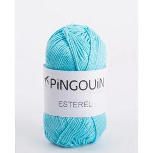 ESTEREL de Pingouin 100% Coton Coloris Lagon