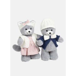 Kit tenue à tricoter Chipie et Filou, Chat 25 cm de Bergère de France 2021/22