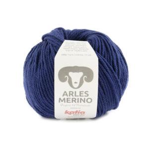 ARLES MERINO de KATIA LAINE 100% MADE IN FRANCE N°67-Bleu nocturne